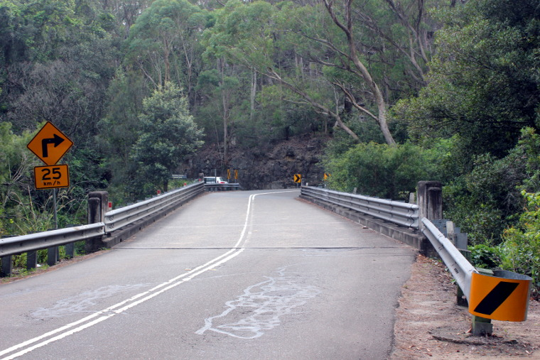 Bridge that marks the start of the Strava segment when cycling Galston Gorge East.