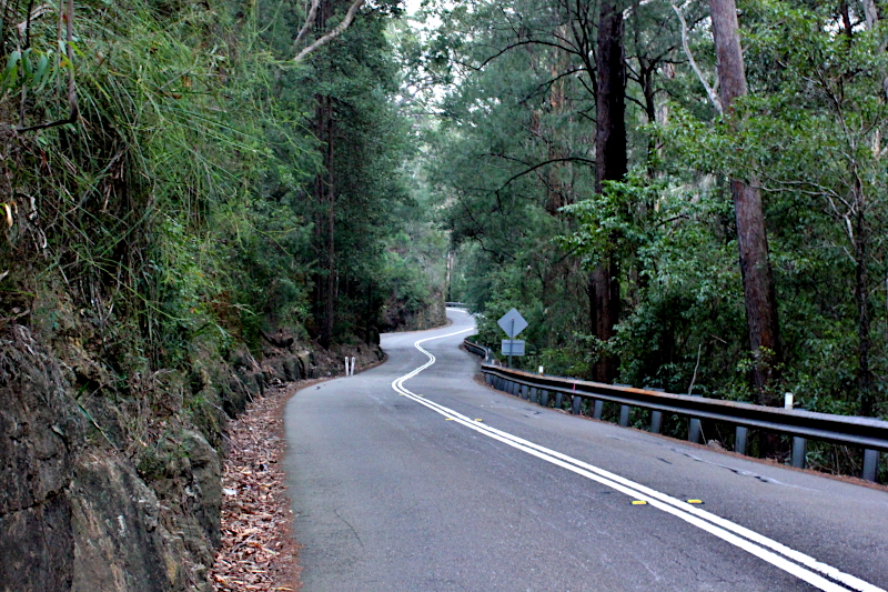 Ribbon-like road for those cycling Galston Gorge West