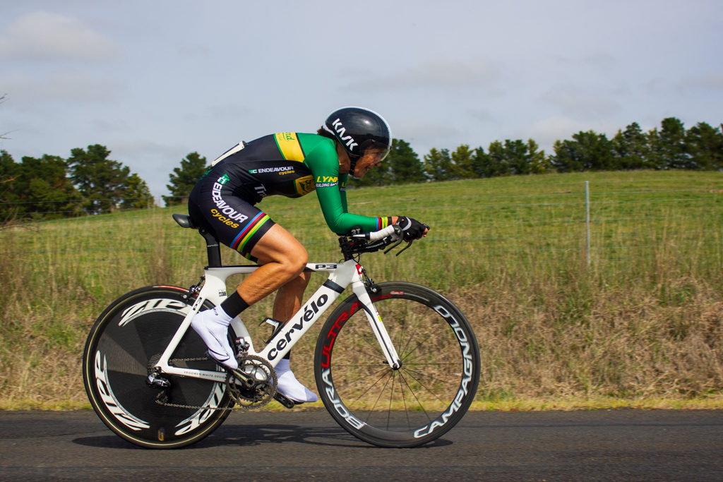Gayle Lynn (Sutherland Shire CC) during the 2018 NSW Masters Road Championships individual time trial