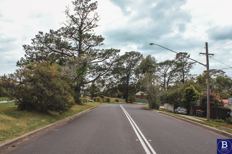 Finish line when cycling Berowra Waters East.