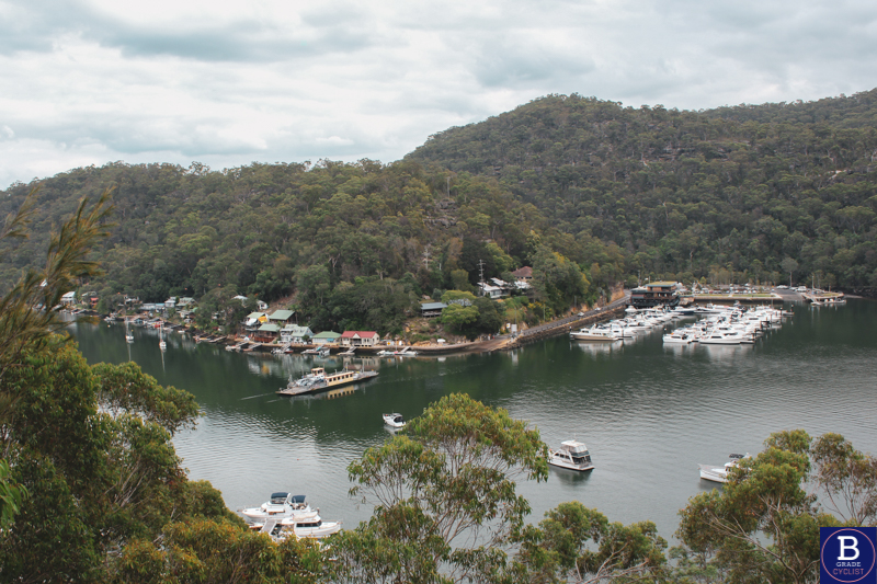 A view of Berowra Waters when cycling Berowra Waters East.