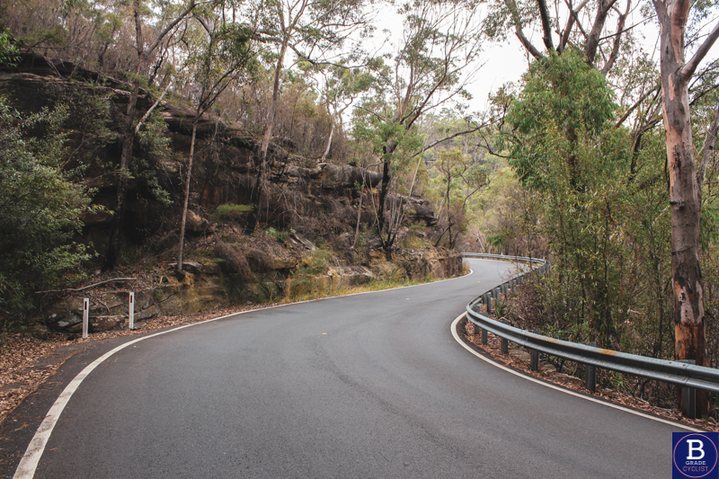 Climbing the middle section when cycling Berowra Waters East.