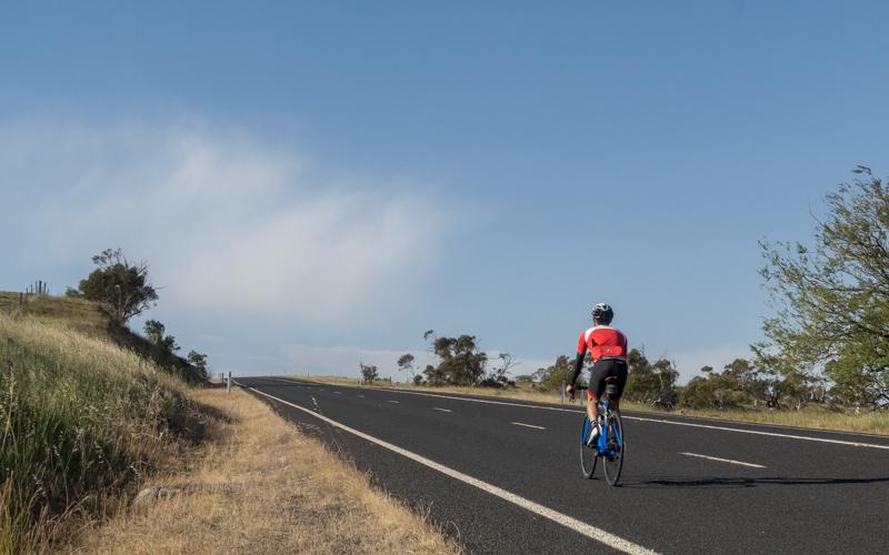 Cycling away from Kosciuszko alone