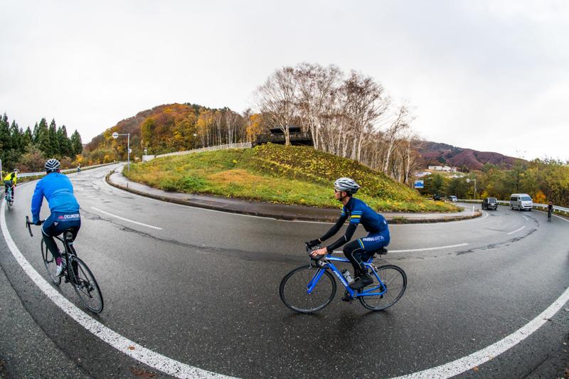 Cycling up the Tazawako Ski Resort climb in Akita, Japan