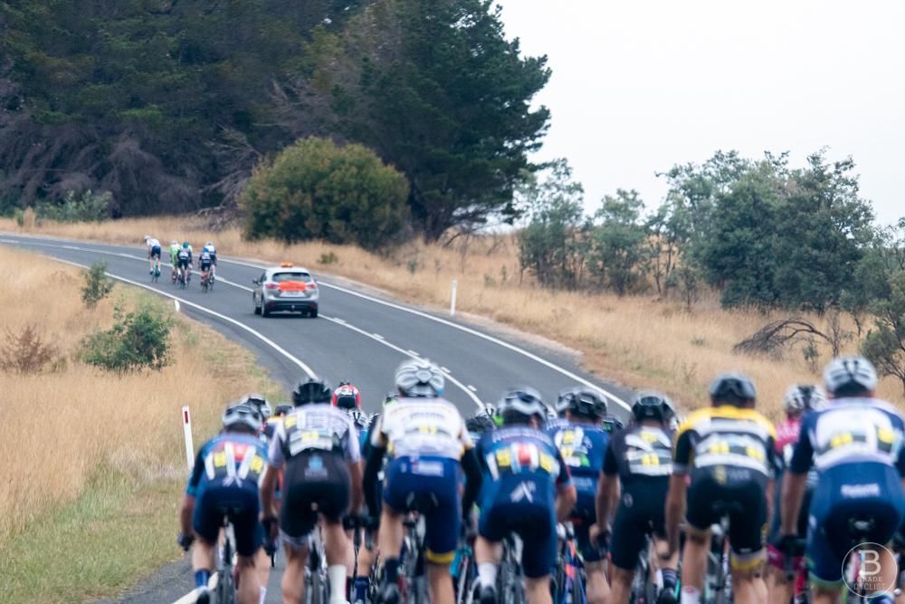 The breakaway ahead of the peloton at the 2019 Bathurst Cycling Classic Blayney 2 Bathurst (B2B)