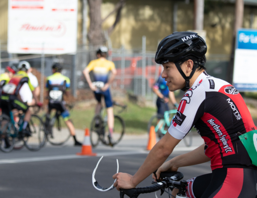 Northern Sydney Cycling Club rider at Beaumont Road