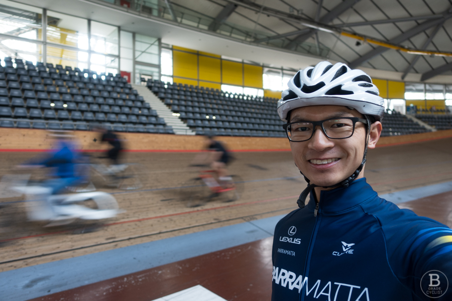 Ryan Miu at Dunc Gray Velodrome's try the track session.