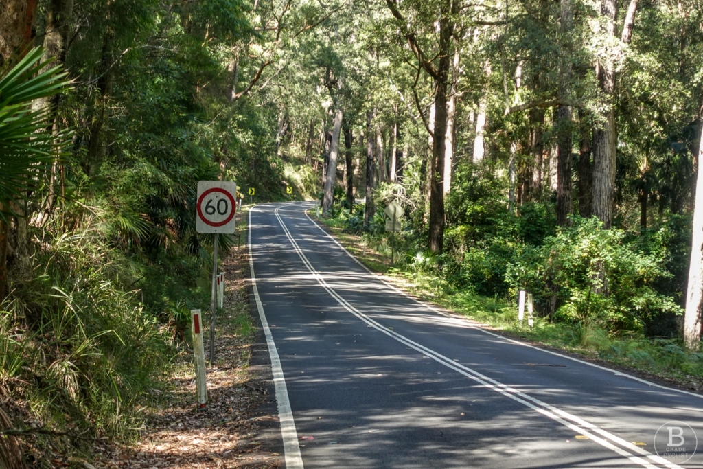 Start of the Waterfall Hill climb in Royal National Park
