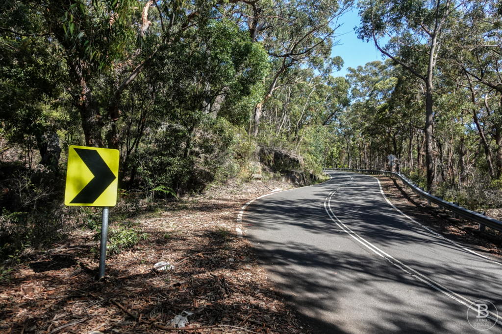 A bend on Waterfall Hill climb in Royal National Park