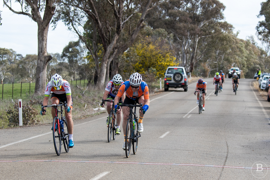 Country cyclists racing at a country open race in Cootamundra