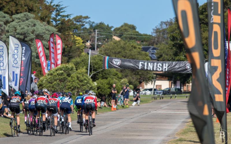 Heffron Park Criterium Track - finish straight