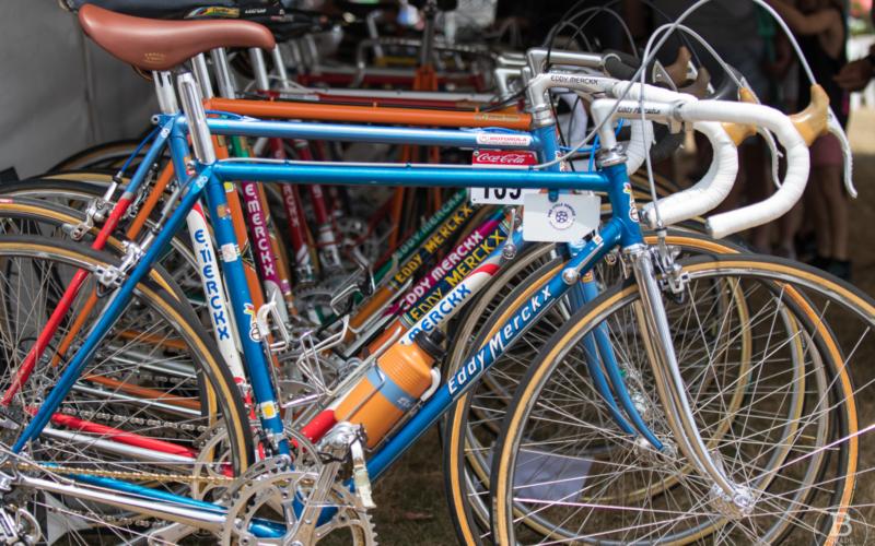 Merckx bicycles on Retro Day 2019 with Randwick Cycling Club