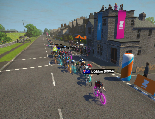 A private race on Zwift - Cycling State of Origin