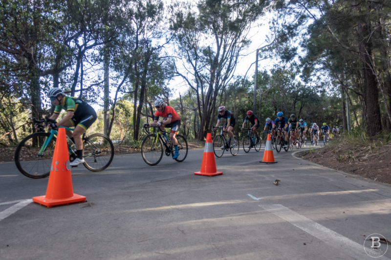 A section of Waratah Park cycling track, Sutherland.
