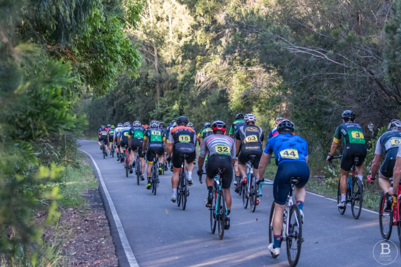 Downhill section of Waratah Park cycling track, Sutherland.