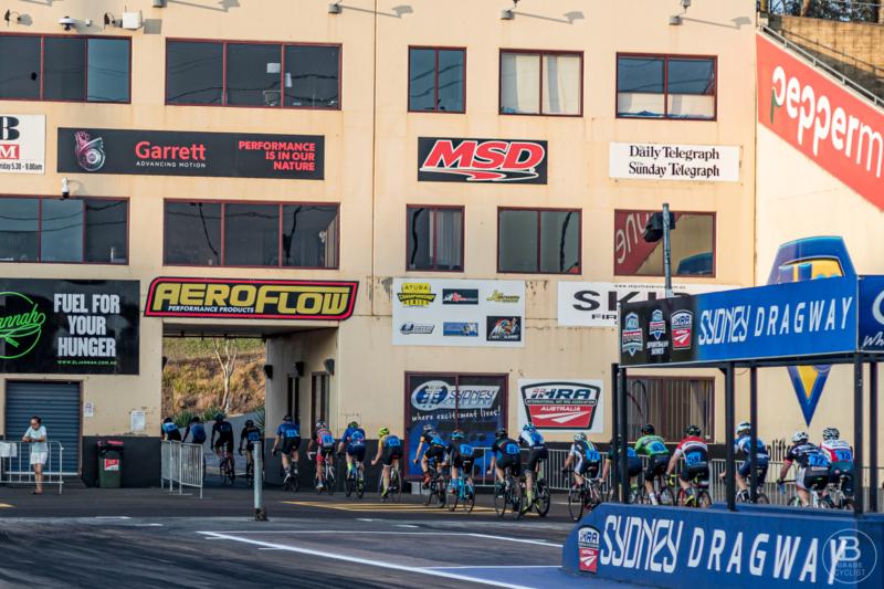 Bicycle racing at Sydney Dragway Eastern Creek